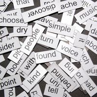 Great Lot of 100 Random Magnetic Words for by scrapitsideways