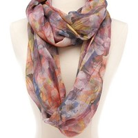 Watercolor Floral Infinity Scarf: Charlotte Russe