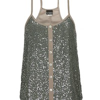 Daytrip Button Down Sequin Tank Top - 's  | Buckle
