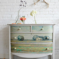 A Knack and Annie Koelle collaboration: Hand painted chest of drawers named Helianthus