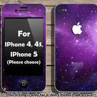 Galaxy skin for IPhone 4, 4s and IPhone 5 (Please choose your Iphone model)
