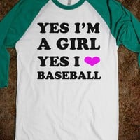 Yes I'm a Girl, Yes, I  - Text Tees
