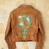 Free People Clothing Boutique > Vintage Lizzy Janssen Hand-Painted Leather Jacket