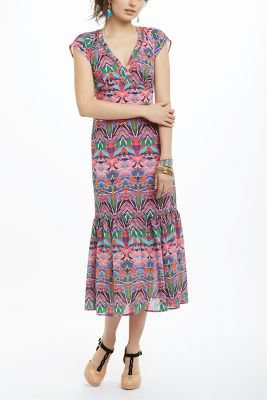 mural maxi dress from anthropologie