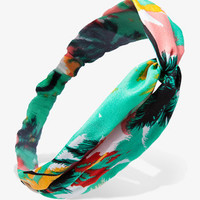 Knotted Tropical Print Headwrap | FOREVER 21 - 1022546575