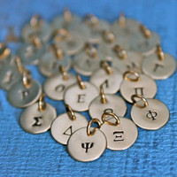 Greek Alphabet Charms