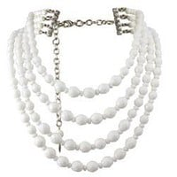 "EMPRESS WHITE ""GILLINDER"" NECKLACE - TARINA TARANTINO"