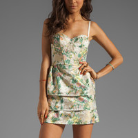 Alice + Olivia Daphine Bra Tank Tiered Skirt Dress in Multi from REVOLVEclothing.com