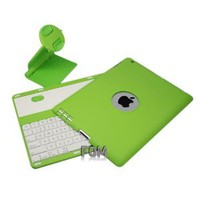 FOM 360 Degree Rotate Detachable Bluetooth Wireless Keyboard Sliding Cover Case for iPad 2 iPad 3 iPad 4 - Green Ship From U.S.A