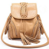 cute lovely tassels knit woman bag/crossbody-light pink
