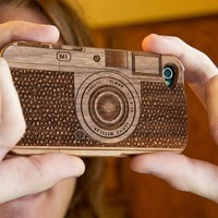 Wood camera iPhone Case for iphone 4/4s/5