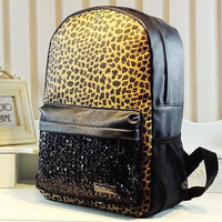 Cool Leopard Sparking Backpack bag