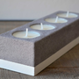 Concrete tealight candle holder