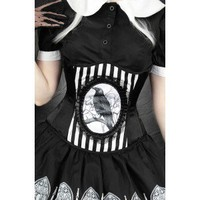 Restyle Fantasy Raven Striped Underbust Corset