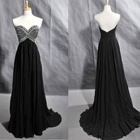 2013 Strapless Sweetheart Chiffon Prom Dress