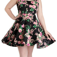 Day off the Grid Dress in Blossoms - Plus Size | Mod Retro Vintage Dresses | ModCloth.com