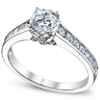 My Diamond Story Ring, 18k White Gold Certified Diamond Engagement Ring (1-1/4 ct. t.w.) - Wedding & Engagement Rings - Jewelry & Watches - Macy's