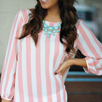 I Love You So Blouse: Pink/White | Hope's