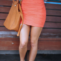 Perfectly Precious Skirt: Coral | Hope's