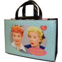 I Love Lucy Signature Product Great Minds Think Alike Tote - Blue - Free Shipping & Return Shipping - Shoebuy.com