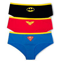 Superheroine Boyshorts 3-pack