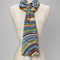 Blue Swirl Candy Scarf