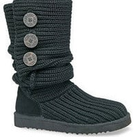 Women&#x27;s UGG Knit Cardy Boots sz 6 Black #5819