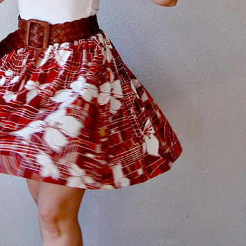 recycled FULL dress / ART DECO print skirt by vintagemarmalade