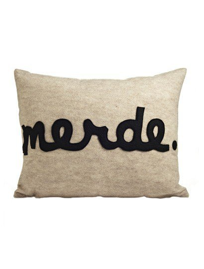 Merde Pillow