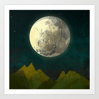 Big Moon Art Print by Amelia Senville