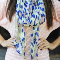 Bright Side Of Wild Scarf: Pink/Royal Blue | Hope's