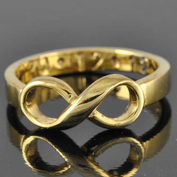 10k gold infinity ring infinity knot from jubilejewel on