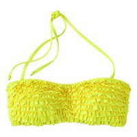 Xhilaration® Junior's Ruffle Bandeau Swim Top -Yellow