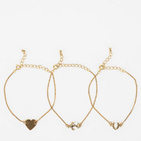 Urban Outfitters - Greta Charm Bracelet - Set of 3