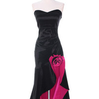 Black/Fuschia Evening Dresses, Taffeta Prom Dress, Flamingo Dance Dress from Sung Boutique Los Angeles