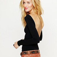 Free People Solid Low Back Cami
