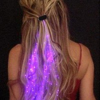 Amazon.com: Starlight Strands Illuminating Hair Extensions (Set of 6 Hair Strands) (Purple): Clothing