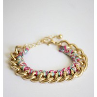 Threaded Chain Bracelet