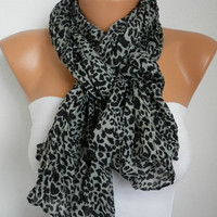 Leopard Women Shawl Scarf  Headband Necklace Cowl by fatwoman