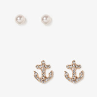 Rhinestone Anchor Stud Set