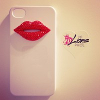 Red Crystal Lips iPhone 4/4s Case