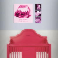 Baby Shower Gift Ultrasound Canvas Print - Baby&#x27;s Room Decor - 12x12&quot; Professional Canvas