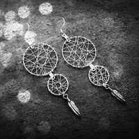 Dream Catcher Earrings - Fading