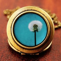 I Wish For A Blue Sky Photo Locket by HeartworksByLori on Etsy