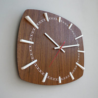 Modern Wall Clock // Norwahl // Walnut by schmittdesign on Etsy