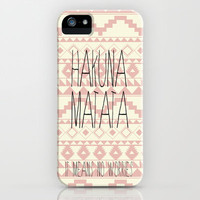 Hakuna Matata iPhone Case by daniellebourland