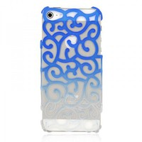 Color Gradient Hollow Vine iPhone 5 Case - Blue