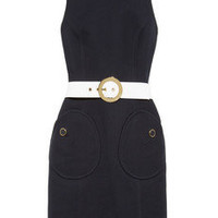 Michael Kors|Belted cotton-crepe dress|NET-A-PORTER.COM