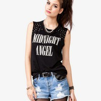 Studded Midnight Angel Tee