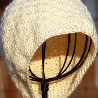 Lemony Yellow Crocheted Women&#x27;s Beanie